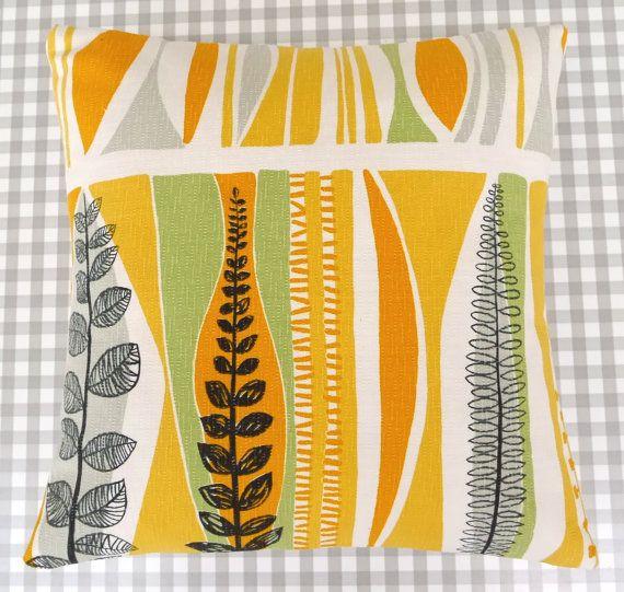 Rare Original 50s French Atomic Fabric Cushion Pillow -  Lucienne Day era Mid Modern