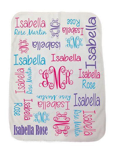 Personalized Baby Blanket, Monogrammed Baby Blanket, Personalized Baby Gift, Baby Shower Gift,Name Blanket, Swaddling Blanketchas002 by ChasingButterfliesBo on Etsy https://www.etsy.com/listing/192295274/personalized-baby-blanket-monogrammed