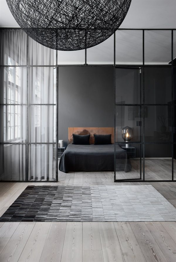 Tæppe i læder - Fade line design