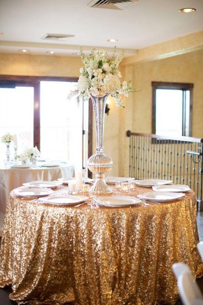 Gold Sequin Tablecloth Wedding Tablecloths Ballroom