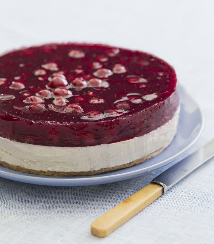 Cherry delight cheesecake #quirkycookbook #thermomix