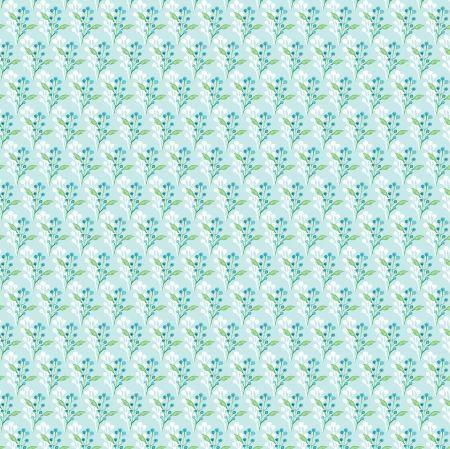 FF166.3 Watercolour Floral Blue