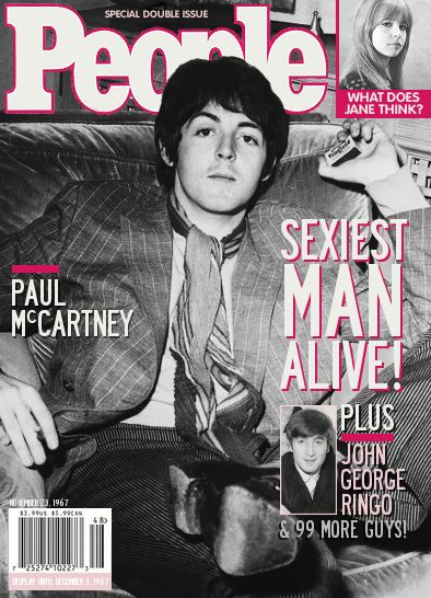 """People Magazine --   Paul McCartney - Sexiest Man Alive - November 23, 1967 // Many people believe that James Paul McCartney died in late 1966 and was replaced -- that would mean that the """"Paul"""" featured in this story was his replacement....."""