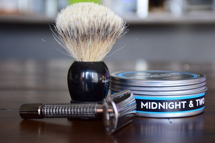 What more do you need for a morning shave? #midnightandtwo #TheCabin #wetshaving #DErazor #shavingbrush