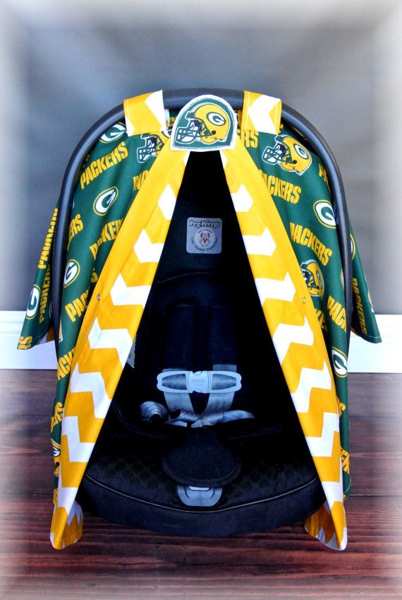 GREENBAY PACKERS car seat canopy car seat cover by JaydenandOlivia
