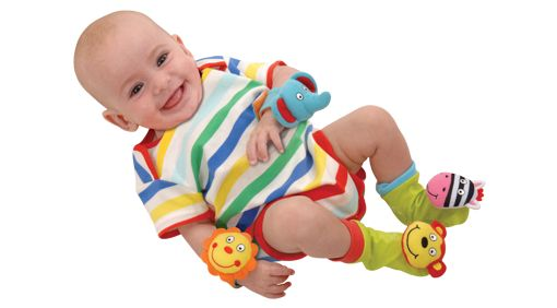 Baby & Toddler  Giggles aplenty for Babies & Toddlers! We love the sound of happy babies and toddlers so have a host of great toys to achieve just that. Created to combine fun with child development, we have tantalising textures, stimulating sounds and captivating colours in toys to develop baby's senses through to fun activities, games and toys for toddlers. From giggle generators for baby's first weeks through to turning the pages of a toddler's first book.