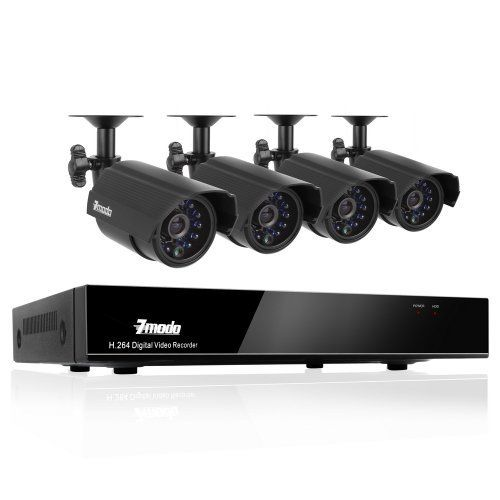 ZMODO 4CH CCTV H.264 Security Remote View DVR With 4 Day Night Weatherproof Surveillance Camera System Without Hard Drive by Zmodo. $143.60. 4CH H.264 DVR Security System with 4 Indoor/Outdoor Night Vision Surveillance Cameras and No Hard Drive This 4 channel outdoor surveillance camera system delivers everything you need to defend your home or business, safeguard your loved ones and deter intruders. It allows you to have peace of mind at your home or business...
