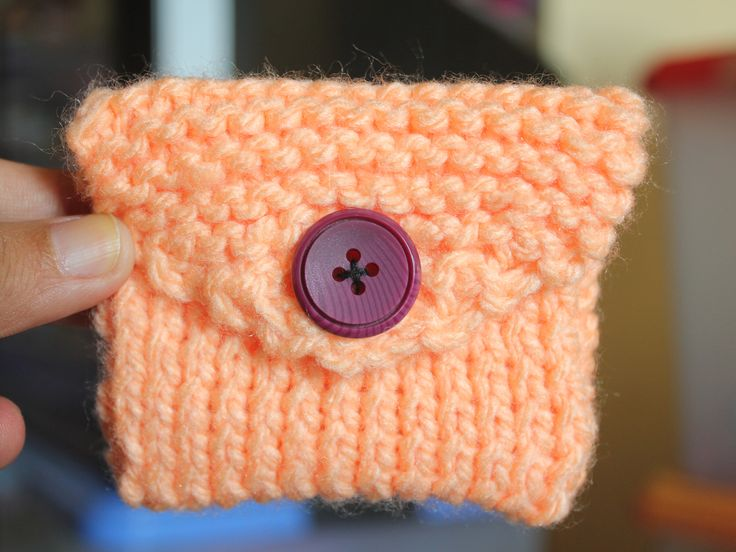 Knit a Coin Purse | Coin purse pattern, Small knitting ...