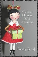 Clothespin doll ornament