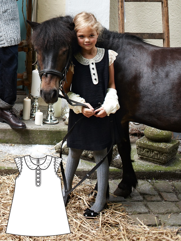 This little girl's Dress is stunning and easy to make!