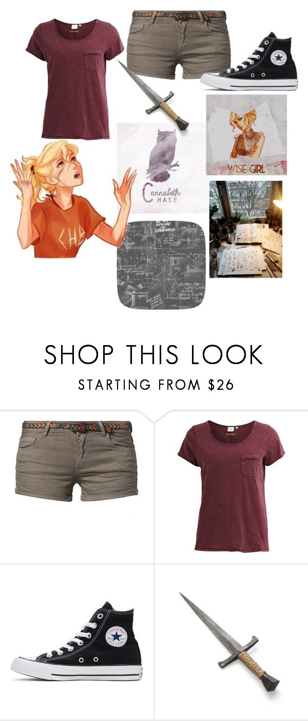 """""""Annabeth Chase📖"""" by a-forever-fangirl ❤ liked on Polyvore featuring Best Mountain, Object Collectors Item, Converse, INDIE HAIR and Dot & Bo"""