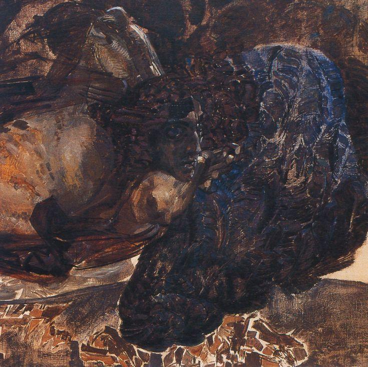 Михаил Врубель - Демон летящий (фрагмент). 1899