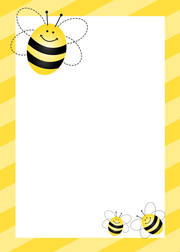 Free Bumble Bee Writing Template | I will printing this out for all of my letters to honey-girl from now on. :)