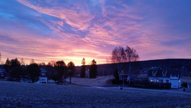 Beautiful skies over Leirsund