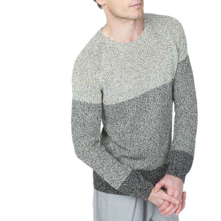 Pull homme coton manches longues