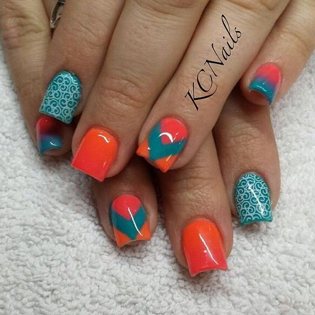 Best 25 miami dolphins nails ideas on pinterest miami dolphins instagram photo by prettyinpolish92 nail nails nailart prinsesfo Images