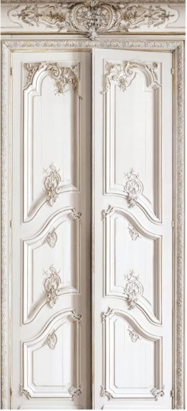 Wallcovering | Modern and Designer panelling. Haussmann double wood doors wall covering.