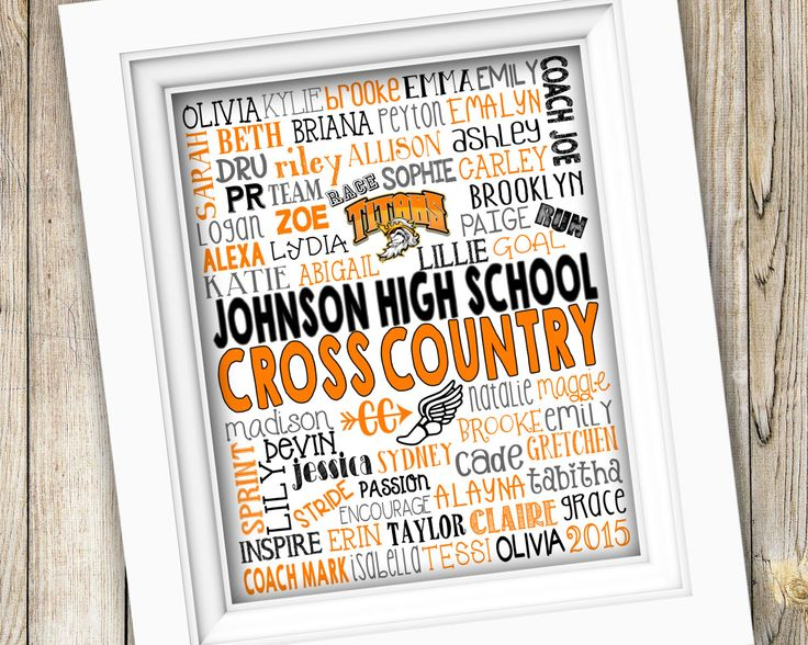Cross Country Coach Gift ~ Cross Country Team Gift ~ Printable Cross Country Subway Art ~ High School Cross Country Team Track Team Digital by SubwayStyle on Etsy