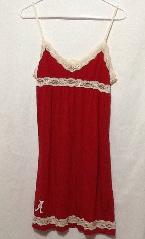 womens sz L Alabama college Football nightgown  #ConceptsSports #BabydollChemise #Everyday