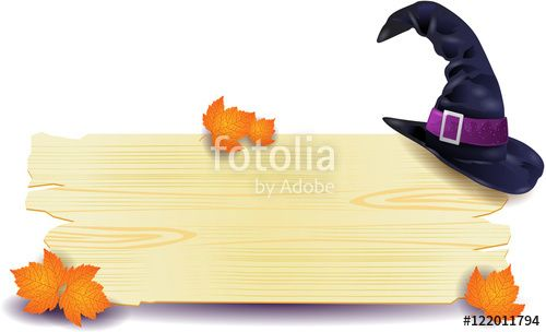 New! :) #halloween #sign #signboard #hat #witch #vector #template https://us.fotolia.com/id/122011794