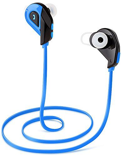 Special Offers - Bluetooth Headset V4.0 Wireless Bluetooth Earphones In-ear Anti Sweat Noise Cancelling Headphones Earbuds with Microphone & Stereo for Running Sports By Loroce(Blue) - In stock & Free Shipping. You can save more money! Check It (April 08 2016 at 09:52PM) >> http://ift.tt/1V25RDB