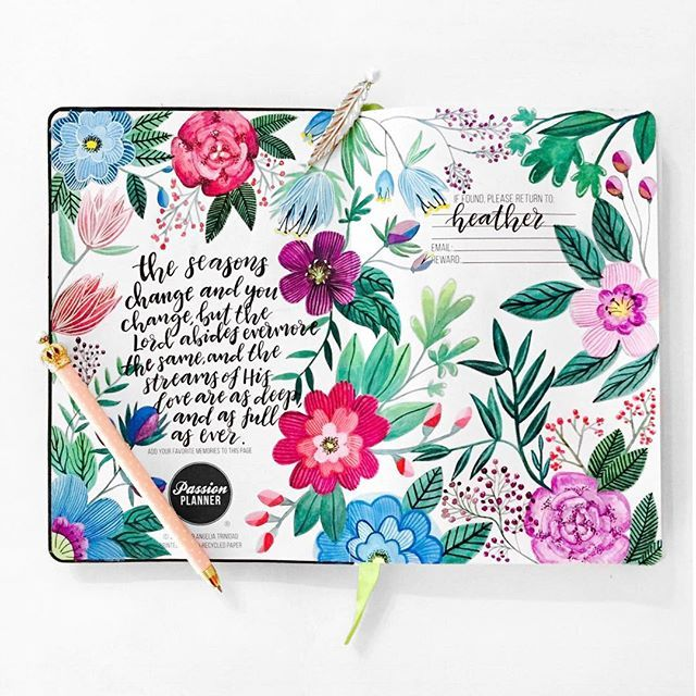 Today's #PCW is… @hellyjellyillustrations   -  Check out how she designs the front cover of her Passion Planner with an inspirational quote to keep her motivated