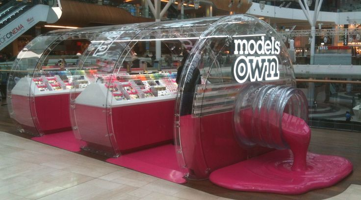 Exhibition Booth Area : Models own makeup bar westfield exhibition booth