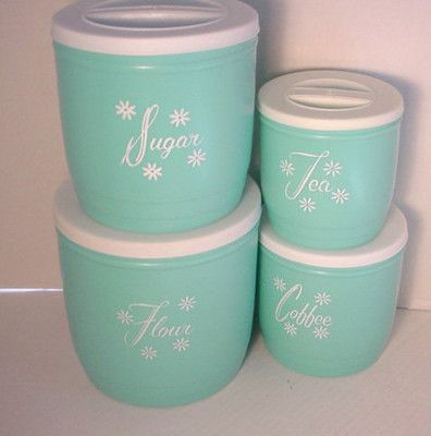 How Cute Are These Vintage Canisters?