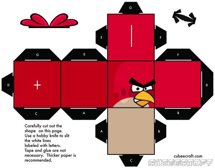 Red Angry Bird Cubeecraft