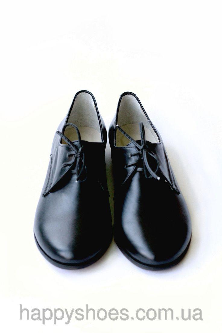 """Черные кожаные женские туфли оксфорды со шнуровкой: продажа, цена в Запорожье. туфли женские от """"HappyShoes"""" - 259823624"""