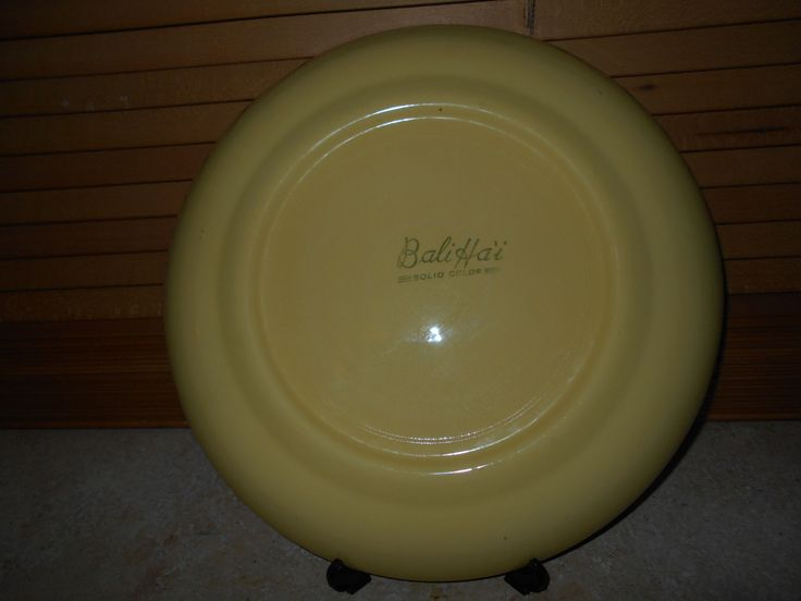 Gorgeous Bali Hai mid century oversize plate - solid colour yellow