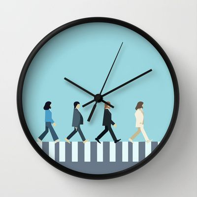 The+Beatles+Wall+Clock+by+Victor+Trovo+Afonso+-+$30.00