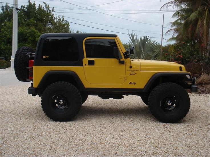 Yellow  2001 Jeep TJ siiick