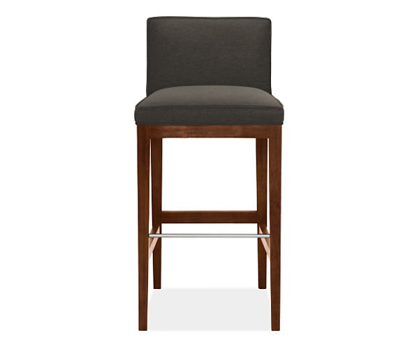 room board ansel low back bar stool with walnut legs furniture finds bar stools counter. Black Bedroom Furniture Sets. Home Design Ideas