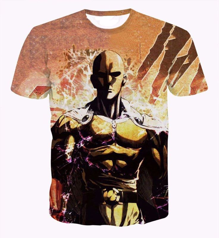 One Punch Man Webcomic Saitama Stylish Vintage Brown 3D T-Shirt