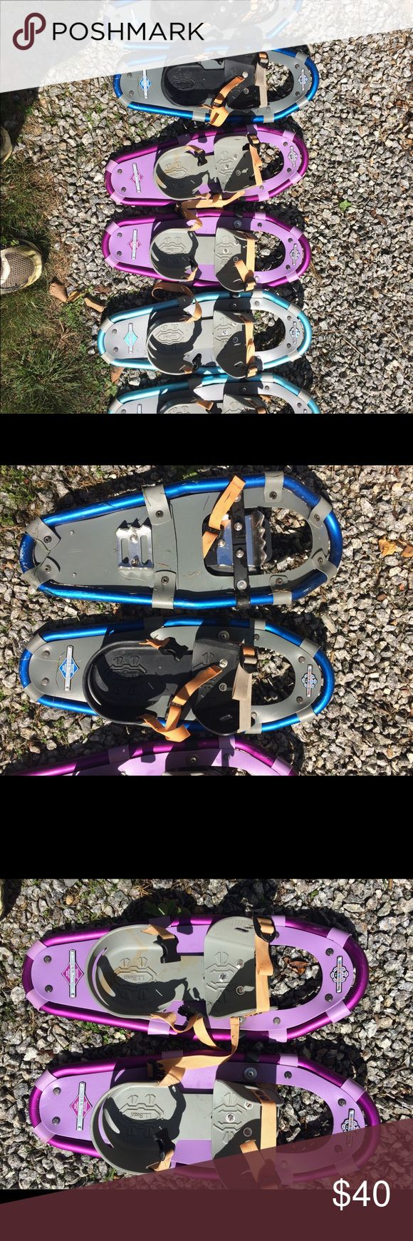 L.L. Bean Snow Shoes Barely used L.L. Bean Winter Walker 19 snow shoes. Can fit a 50-110 lb person with a range of shoe sizes. Available in pink, light blue, and dark blue. $40 for each pair L.L. Bean Other
