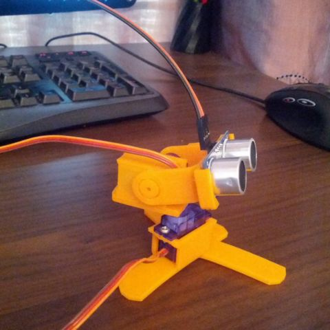 Download on cults3d.com #3Dprinting 3D Ultrasonic 3D Scanner, Pyromaniac