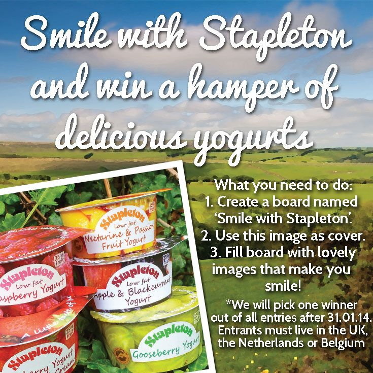 Smile with Stapleton and win a hamper of delicious yogurts. Create your own board of things that make you smile and enter our competition! #yogurt #competition #stapleton #smile