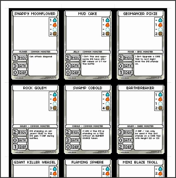 Free Cute Of Game Card Template Trading Card Template Custom Playing Cards Game Card Design