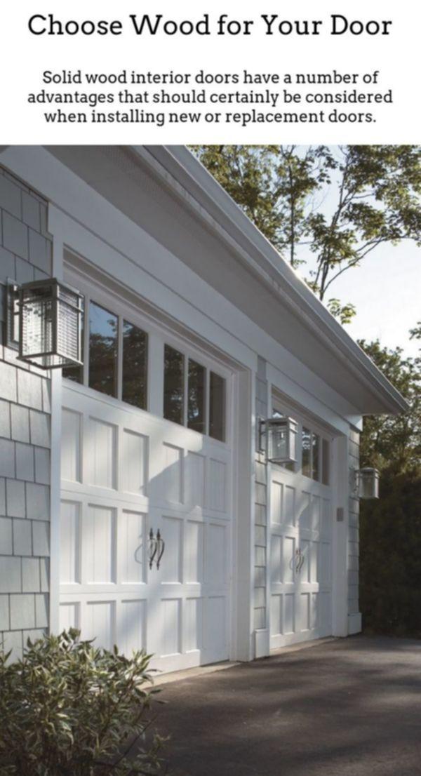 Wooden Doors Solid Wood Doors Are Good If You Reside In A Period Property Or Want To Add More Timeless El Modern Garage Doors Garage Door Design Garage House