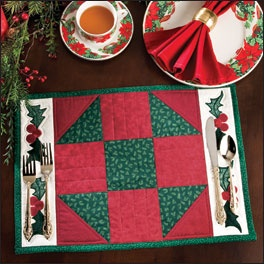 Christmas Holly Place Mat Pattern
