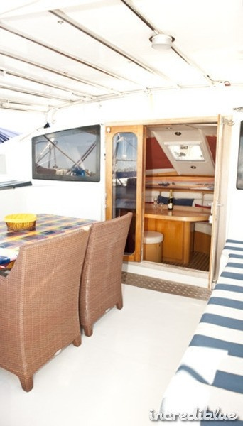 Sail the Ionion islands in Greece on this luxurious Jeantot Marine 45ft. She is based in Corfu, Greece!