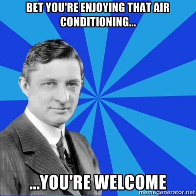 Willis Carrier invented the modern air conditioning system (HVAC) to solve a humidity problem at the Sackett-Wilhelms Lithographing and Publishing Company in Brooklyn, NY.