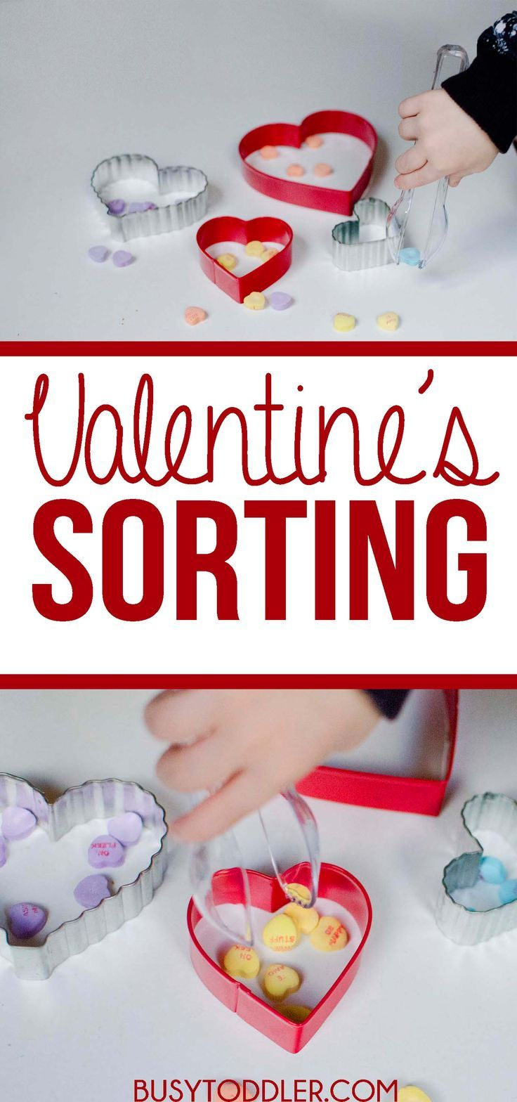 be2558f134bce30d9e757cd27c1d9f04 sorting activities holiday activities - Valentine's Day Sorting Activity: a simple toddler activity with Conversation ...