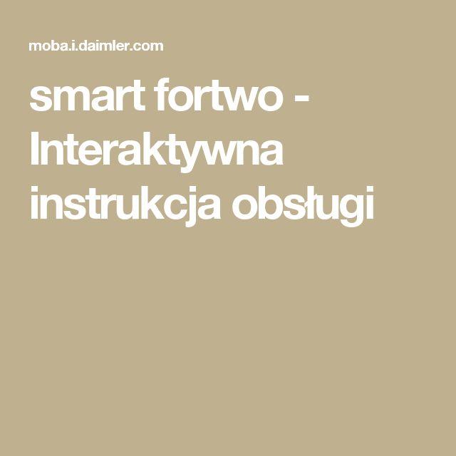 smart fortwo - Interaktywna instrukcja obsługi