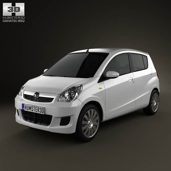 Daihatsu Mira (Cuore) 2011 3d model from humster3d.com. Price: $75