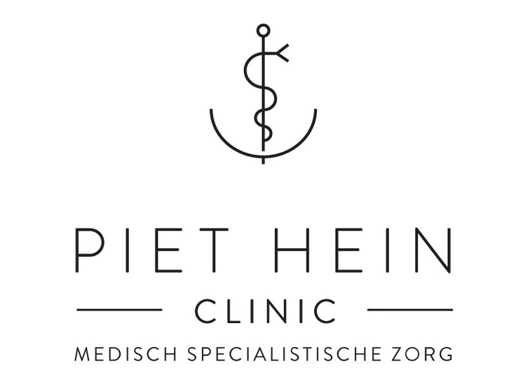 Full version logo for Piet Hein Clinic in Amsterdam. design: www.formlab.com