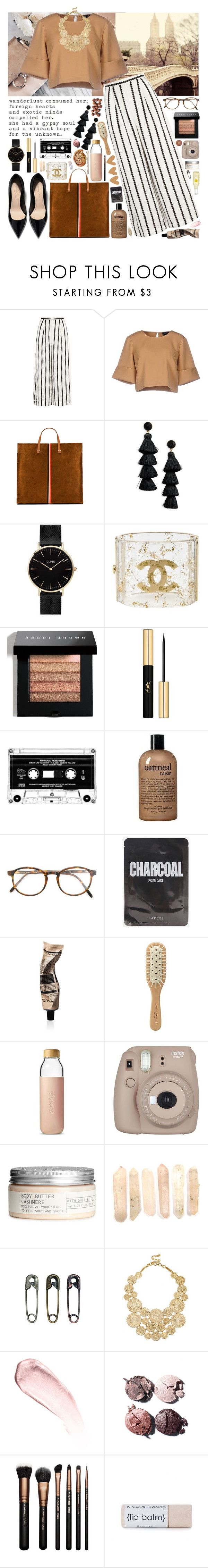 """""""Wanderlust"""" by laurengoode23 ❤ liked on Polyvore featuring Finders Keepers, The Fifth Label, Clare V., BaubleBar, CLUSE, Chanel, Bobbi Brown Cosmetics, Yves Saint Laurent, philosophy and RetroSuperFuture"""