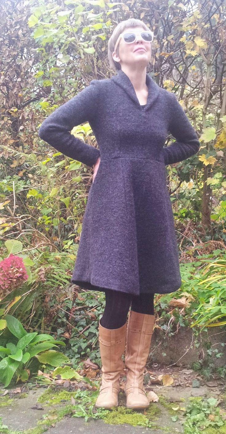 bunte kleider: MMM 35 Dakota-Shawl-Collar-Dress von Named