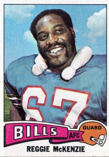 #3 LG #17 Bill  Reggie McKenzie #473 TOPPS 1975 NFL American Football ...